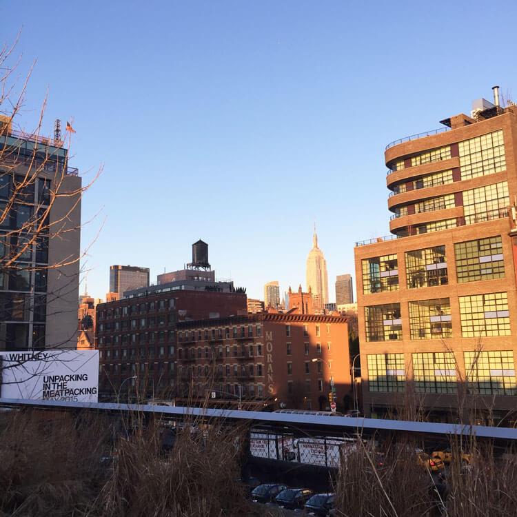 vistas desde la high line de nueva york