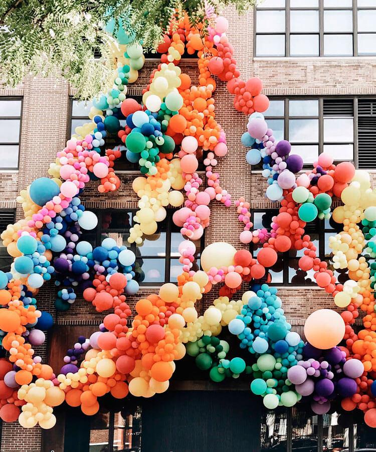 Oficinas de Squarespace en la semana del Orgullo Gay de hace dos años. Nueva York se viste de fiesta.