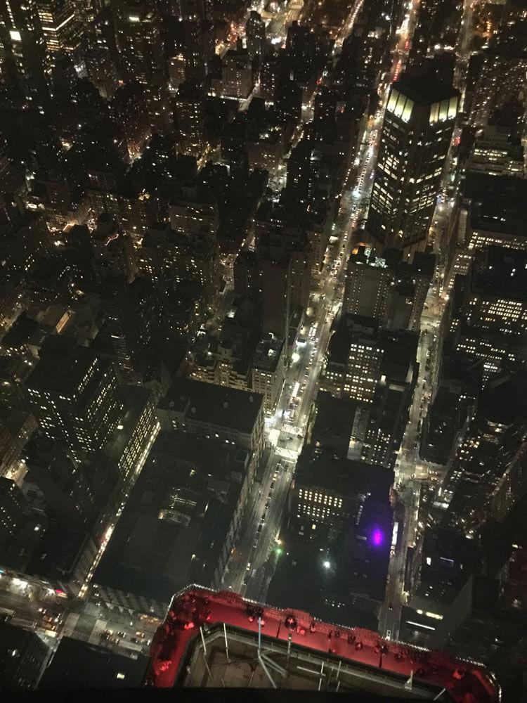 Vista del balcón del piso 86 desde el piso 102.