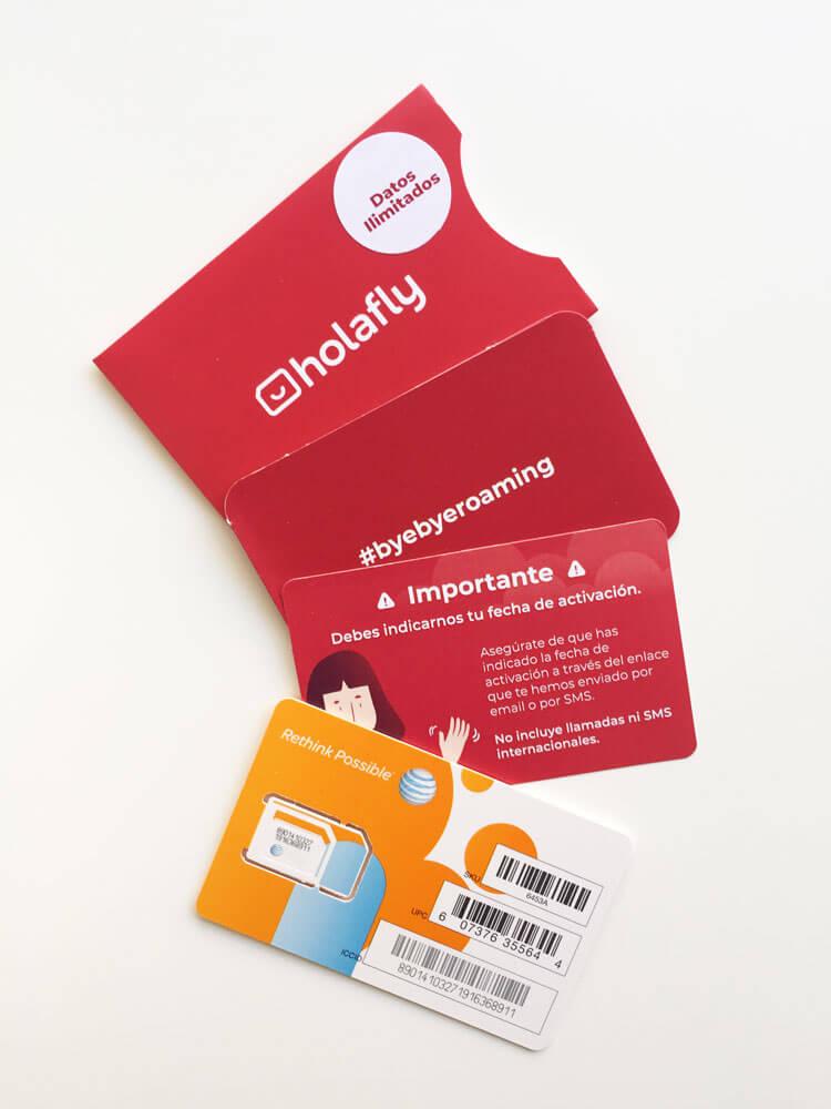 detalle de información y tarjetas de Holafly