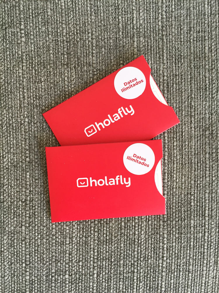tarjetas de datos de Holafly
