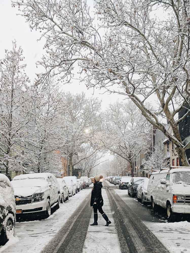 nieve en febrero en nueva york