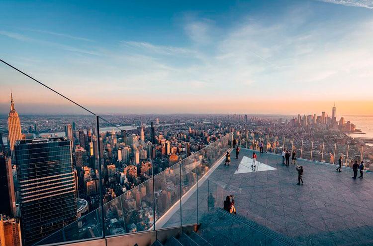 vista del balcón de the edge