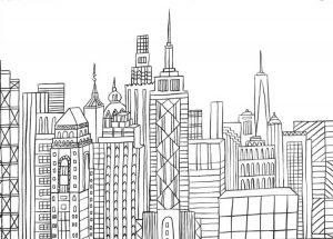 libros para colorear de Nueva York