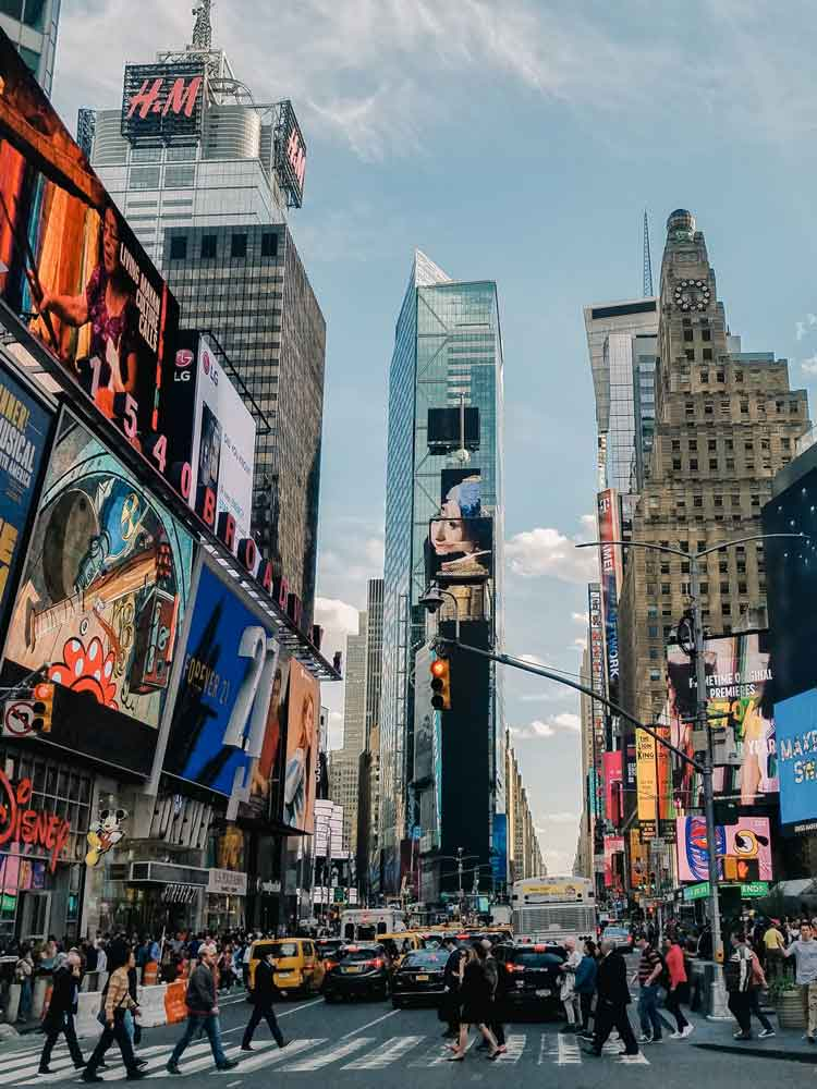 times square está en el distrito de Nueva York de Manhattan