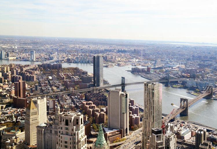 Vistas desde el One World Observatory incluido en la New York Pass