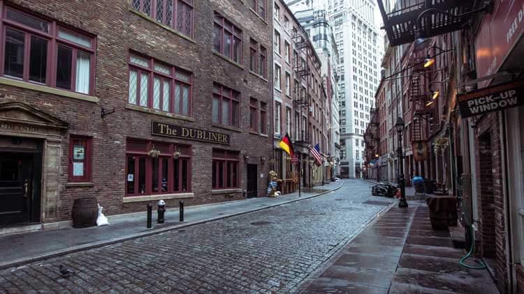 Stone Street Distrito Financiero Nueva York