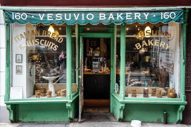 Viaje a Nueva York sostenible. Vesuvio bakery es una pequeña pastelería en el SoHo.